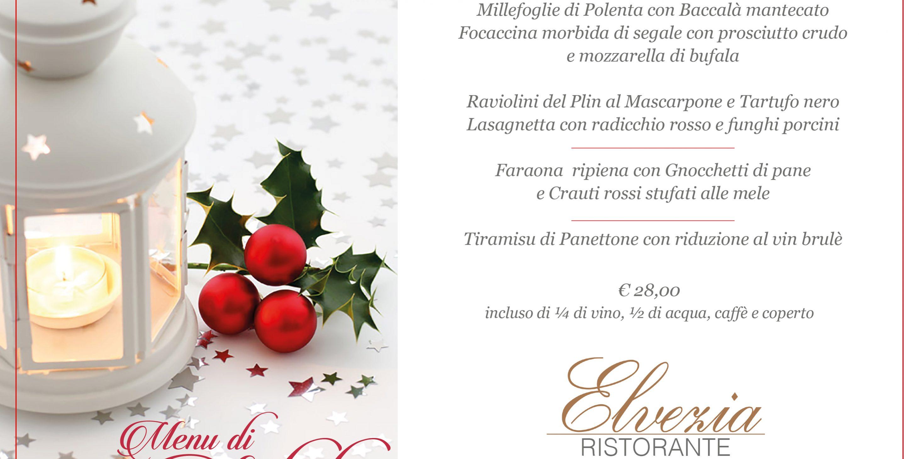 Un Menu Per Il Pranzo Di Natale.Pranzo Di Natale Hotel Ristorante Elvezia Selvino Bergamo